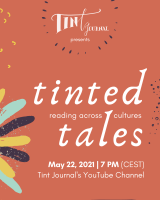 Screenshot of Tint Journal's flier for their Spring 2021 Virtual Tinted Tales Reading