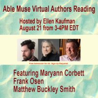 banner for Able Muse August 21, 2021 Reading