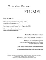 Screenshot of Watershed Review/Flume Press flier for the NewPages September 2021 eLitPak