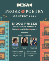 Screenshot of CARVE's flier for their 2021 Prose & Poetry Contest