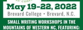 Screenshot of 2022 Looking Glass Rock Writers' Conference flier