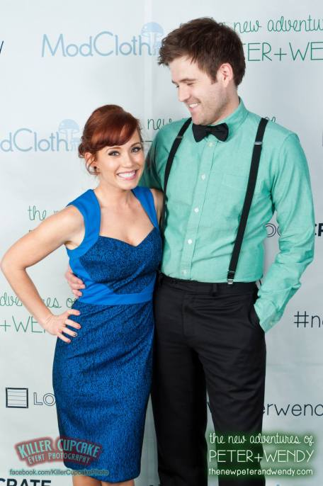 Kyle Walters and Paula Rhodes (our Peter Pan and Wendy Darling)