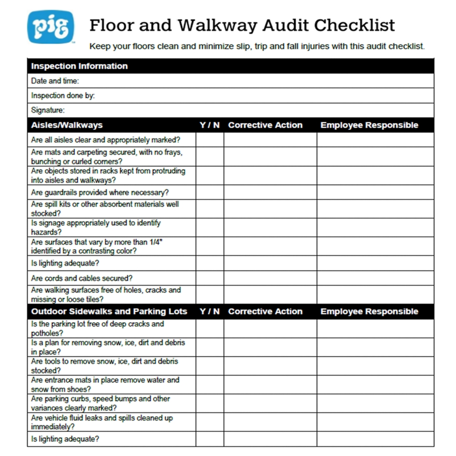 Osha Inspection Excel Checklist Template