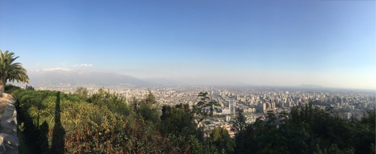 A trip to Santiago and a climb up San Cristobal for a smoggy viewing