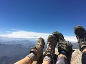 Chillin in awe at the summit
