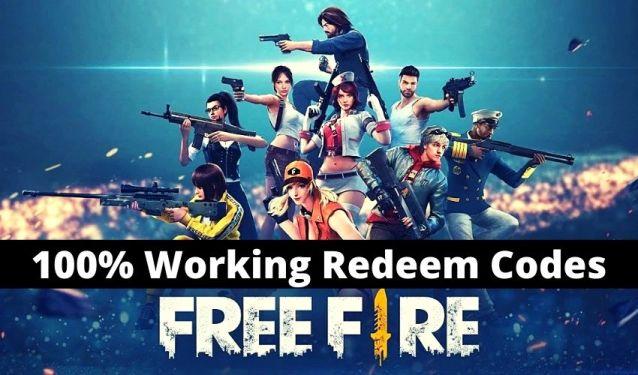 Free fire redeem code today india server