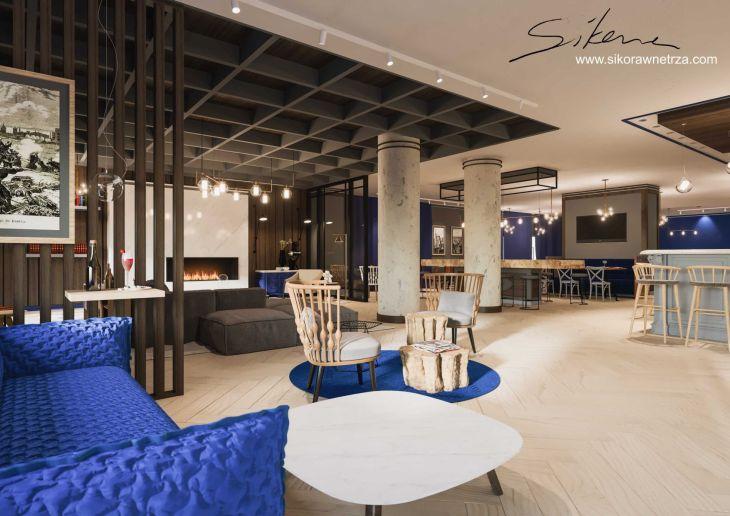 ZDJĘCIE nr 1: wizualizacja hotelu ApartHotel no1 – projekt realizowany na Wyspie Spichrzów w Gdańsku (meble dostępne w Galerii Heban)