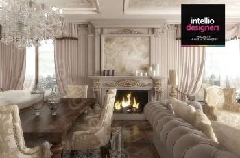 Zdjęcie główne: Projekt luksusowego apartamentu autorstwa Intellio designers ze sztukaterią w roli głównej