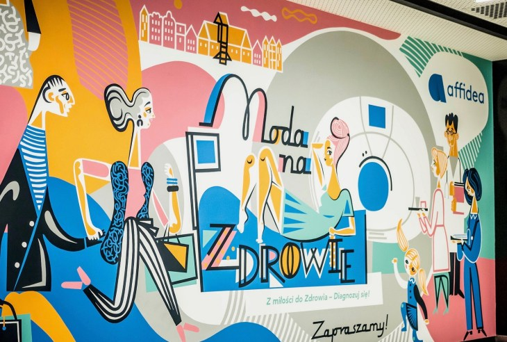 Katarzyna Bogucka, Nioska, mural reklamowy