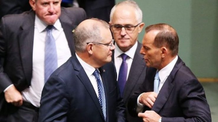Scott Morrison, Malcolm Turnbull and Tony Abbott.