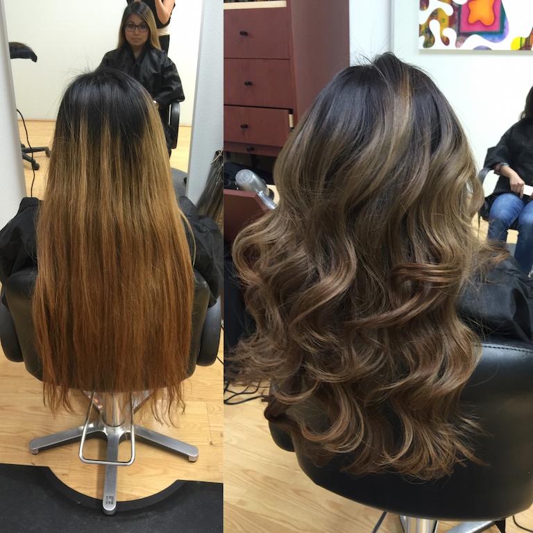 Newport Beach Hair Stylist Color Correction Yellow Orange to