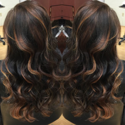 Redlands Hair Stylist - Kristy Black hair with balayage highlights hair color