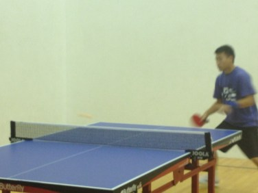 Table Tennis rally in Newport Beach