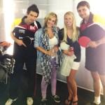 Table tennis with Newport Beach table tennis team!