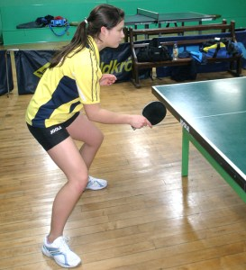 Table tennis start position