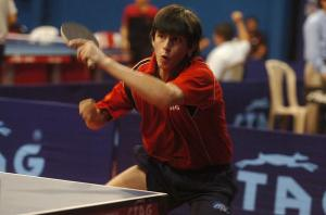 Rodrigo Tapia from Ecuador playing in Newport Beach Table Tennis Club