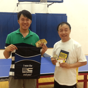 Fafa Liao and Tony Su after playing the Equal Challenge Tournament in Newport Beach