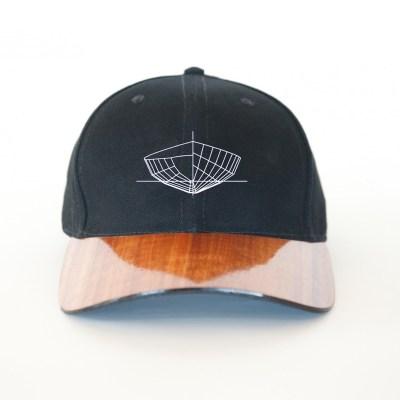 Koa hat front