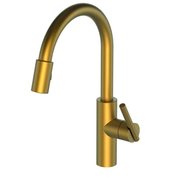 Newport Brass1500 5103 East Linear Pull Down Kitchen Faucet