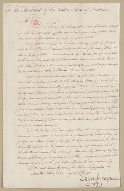 Touro Synagogue Washington Letter