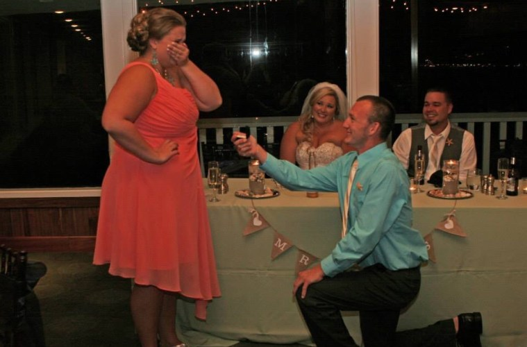 proposal at wedding