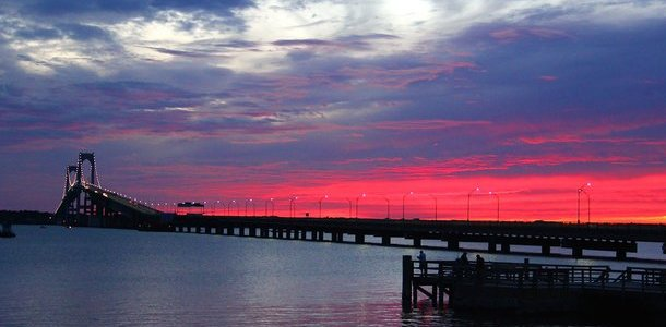 Newport Pell Bridge Sunset