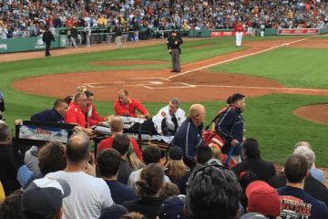 Woman hit by bat fenway