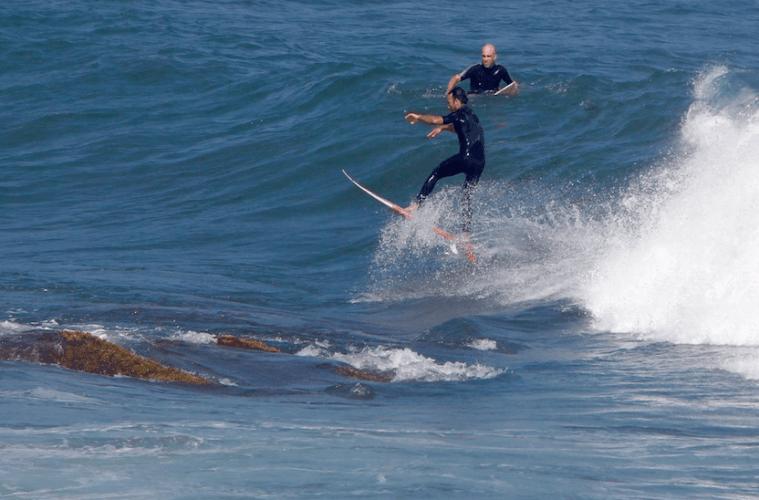 Surfing Ruggles Newport RI