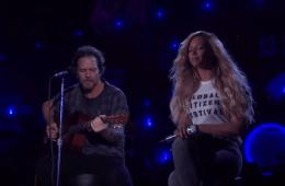 Eddie Vedder Beyonce Redemption Song Global Citizen Festival