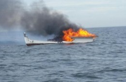 Coast Guard lobster boat fire