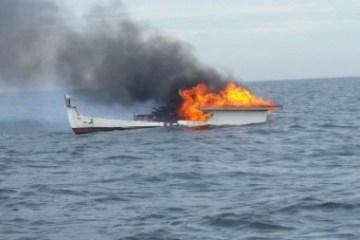 Coast Guard lobster boat fire