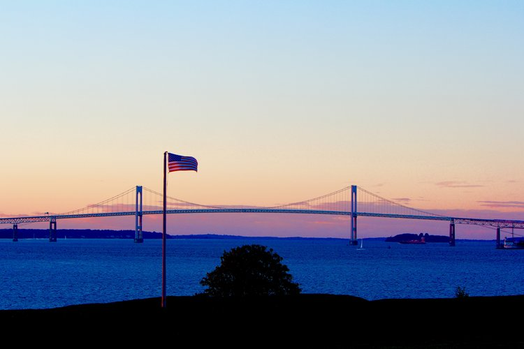 Fort Adams Newport Bridge Sunset Newport RI
