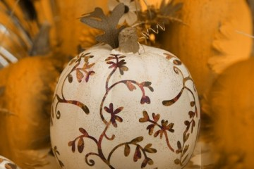 decoupage-pumpkin