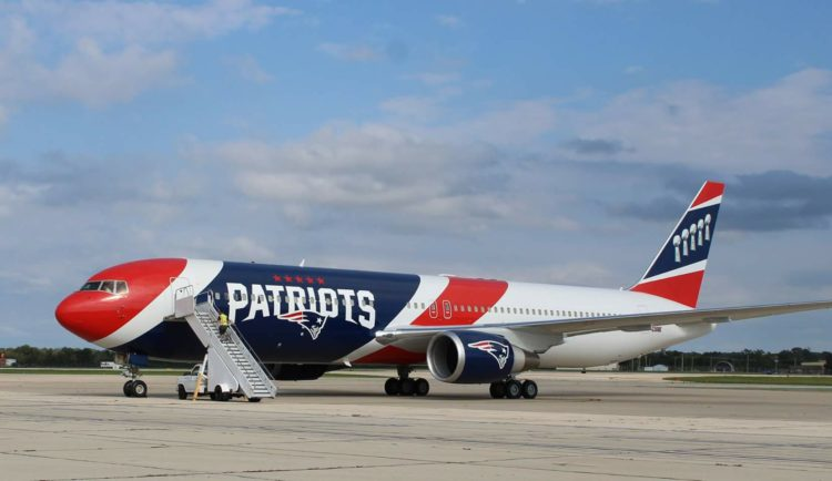 Patriots' team plane transporting 1.2 million N95 masks from China to America