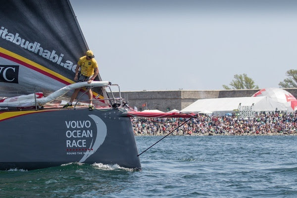 May 17,2015. Leg 7 Start in Newport; Abu Dhabi Ocean Racing