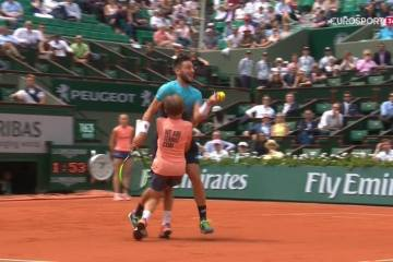 Ball boy collision french open