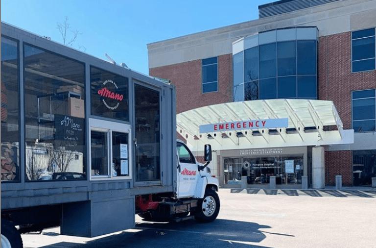 aMano Pizza Newport Hospital Donation