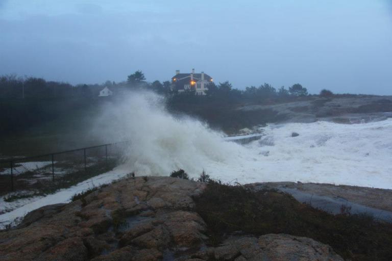 Newport RI Big Waves Storm