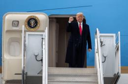 Trump Departure event