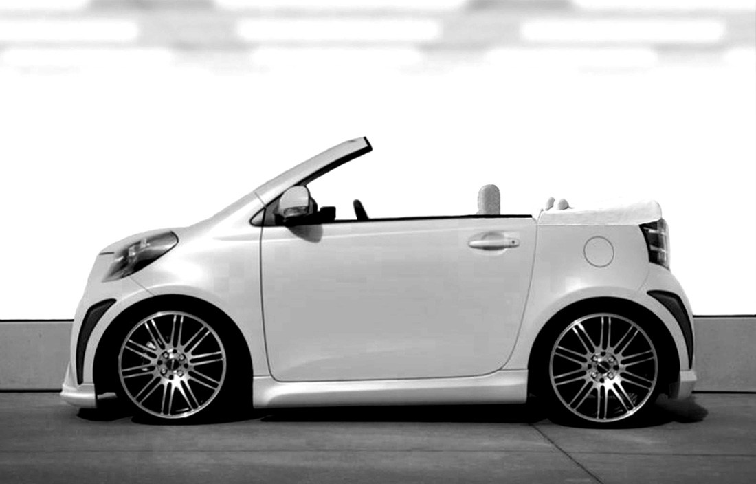 Scion Iq Convertible on tundra car audio