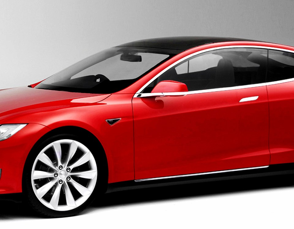 Tesla Model S coupe