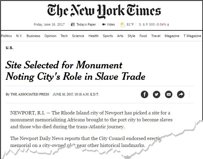 New York Times - June 16, 2017 - Memorial