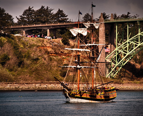 the Lady Washington in HDR