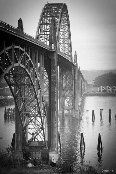 Yaquina Bay Bridge in B&W