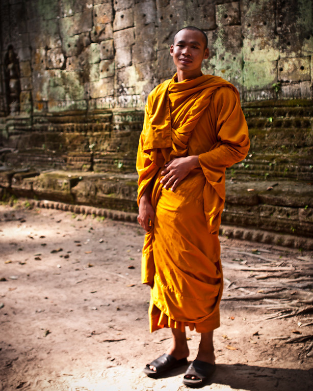 Monk at Ta Prohm