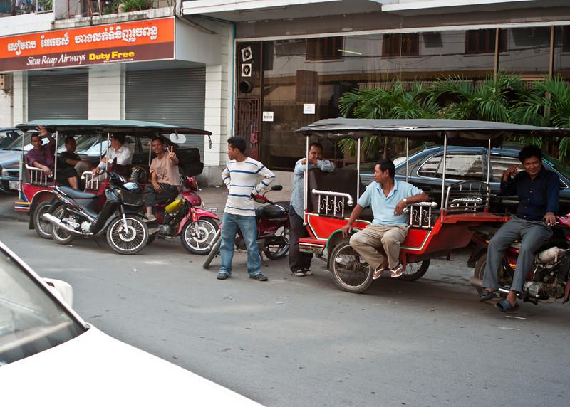 Tuk-Tuks on the street in Phnom Penh
