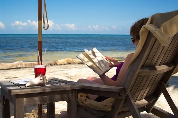 Pam relaxes at Maya Chan