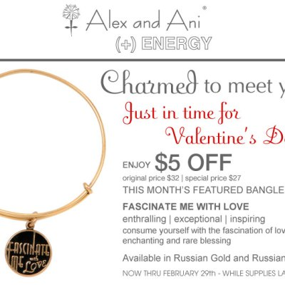 Charmed to Meet You…the Art-Deco Inspired Alex and Ani Bangle of the Month!