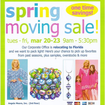 Angela Moore Spring Moving Sale Starts Today! Here's the Scoop: