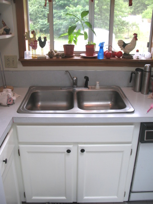 sink1 White Kitchen Faucet With Side Spray